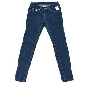 True Religion Stella Rhinestone Skinny Jeans